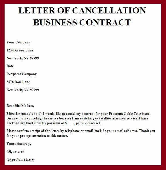Termination Of Contract Template Unique Printable Sample Contract Termination Letter form
