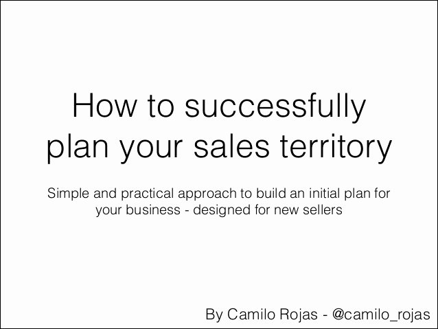 Territory Management Plan Template Inspirational How to Plan Your Sales Territory