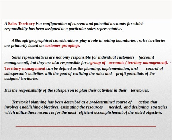 Territory Sales Plan Template Awesome Sample Territory Plan Template 8 Free Documents In Pdf