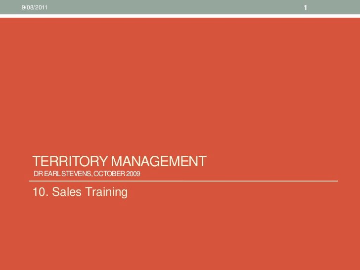 Territory Sales Plan Template New 10 Sales Training Territory Management