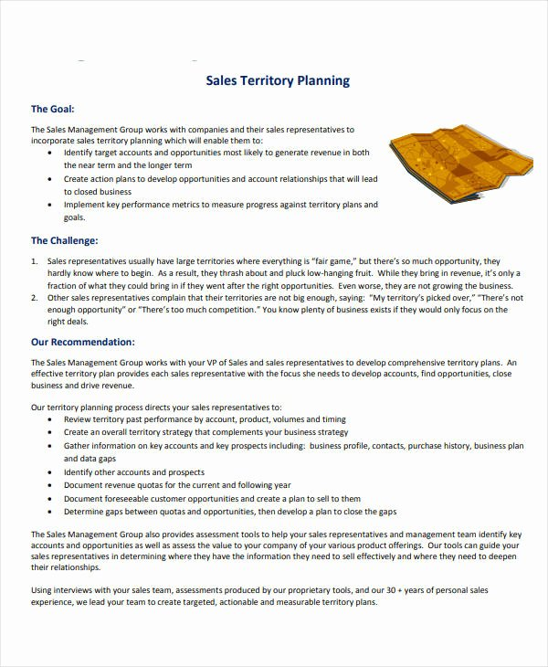 Territory Sales Plan Template New 7 Territory Sales Plan Templates Pdf