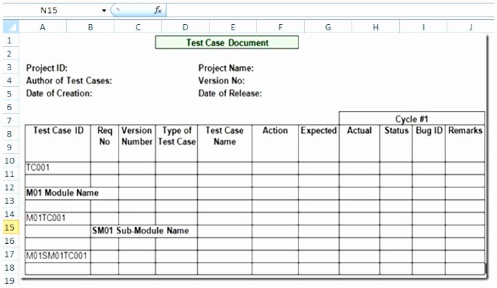 Test Case Template Excel Best Of 12 Test Cases Excel Template Tawxh