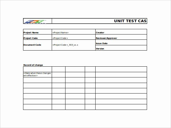 Test Case Template Excel Elegant 10 Test Case Templates – Free Sample Example format