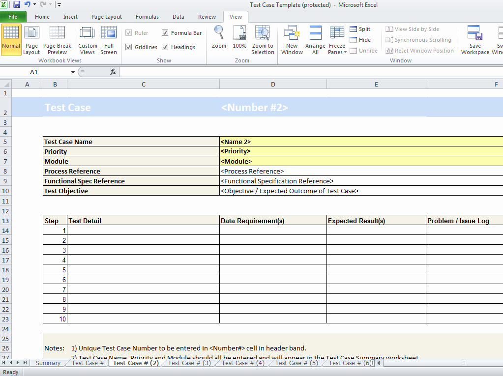 Test Case Template Excel Luxury Test Case Template