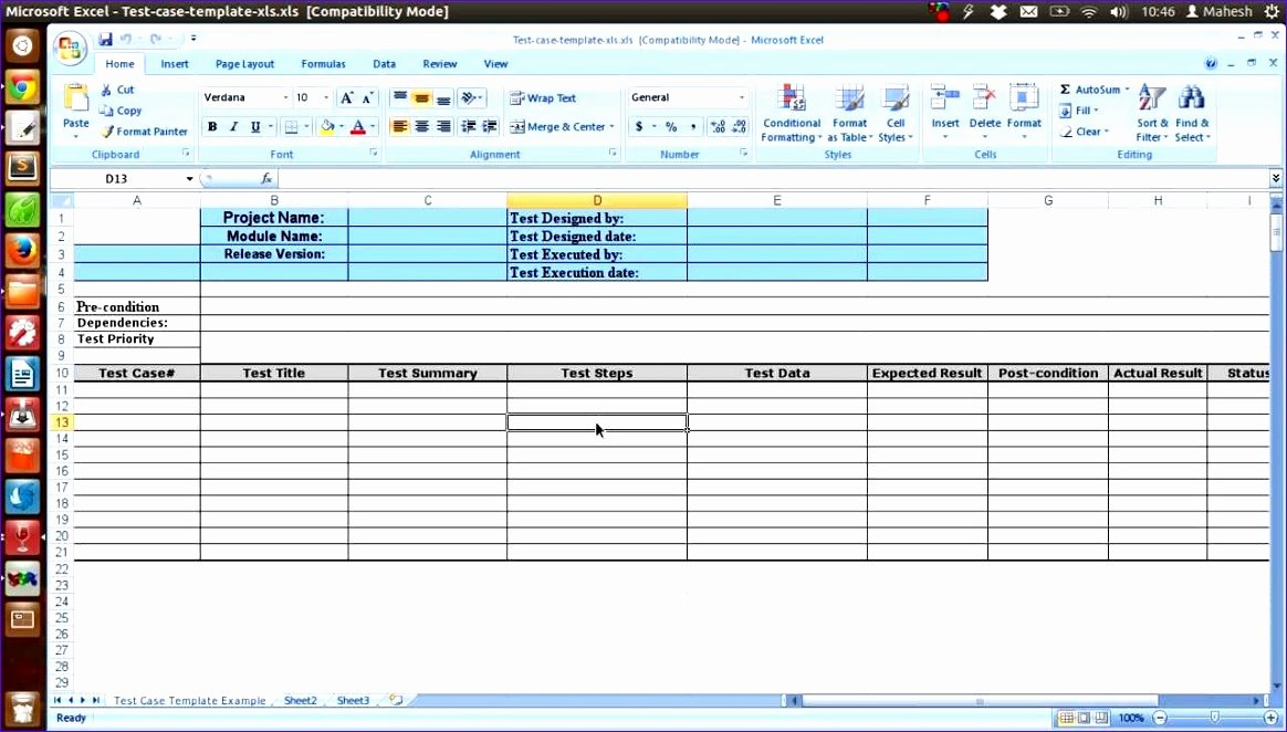 Test Case Template Excel New 12 Test Cases Excel Template Exceltemplates Exceltemplates