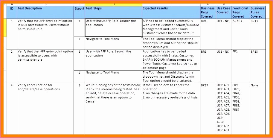 Test Case Template Xls Awesome 11 Test Case Template In Excel Exceltemplates