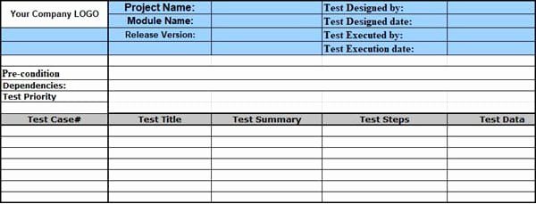 Test Case Template Xls Elegant Sample Test Case Template with Test Case Examples [download]