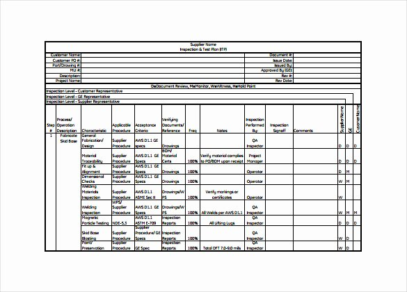 Test Plan Template Excel Luxury Itp Plan Template Uat Testing Template Excel Inspection