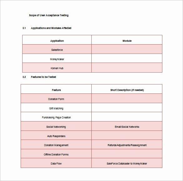 Test Plan Template Word Elegant 15 Test Plan Templates Pdf Doc