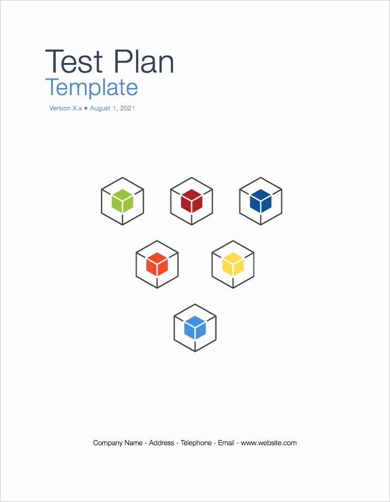 Test Plan Template Word Fresh Test Plan Template Apple Iwork Pages and Numbers