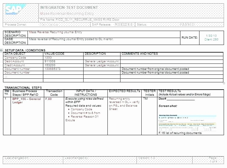Test Script Template Excel Best Of Test Script Template Best Practices for Testing In Sap