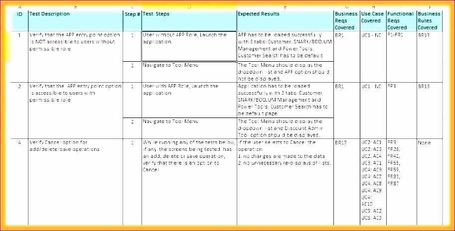Test Script Template Excel Inspirational Sap Test Scripts Template Test Script Template Excel