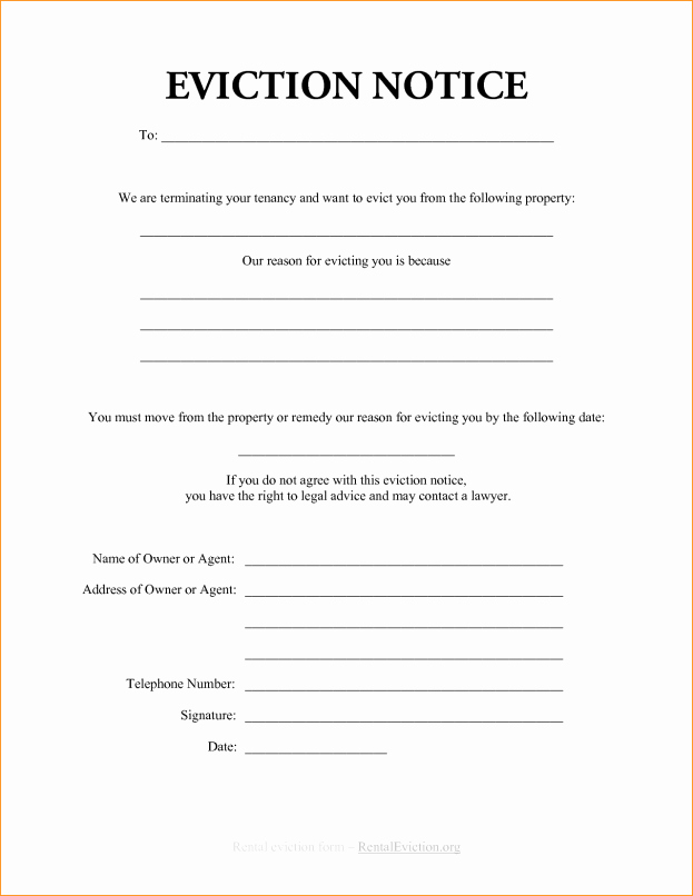 Texas Eviction Notice Template Beautiful Blank Eviction Notice Example Mughals