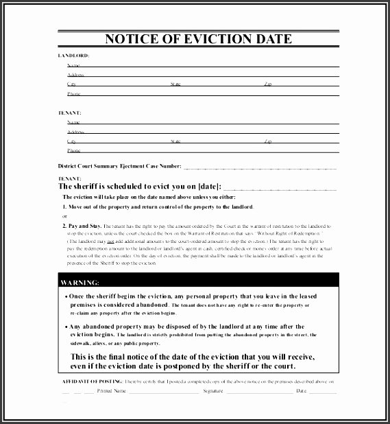 Texas Eviction Notice Template Best Of 10 Eviction Notice Example Sampletemplatess