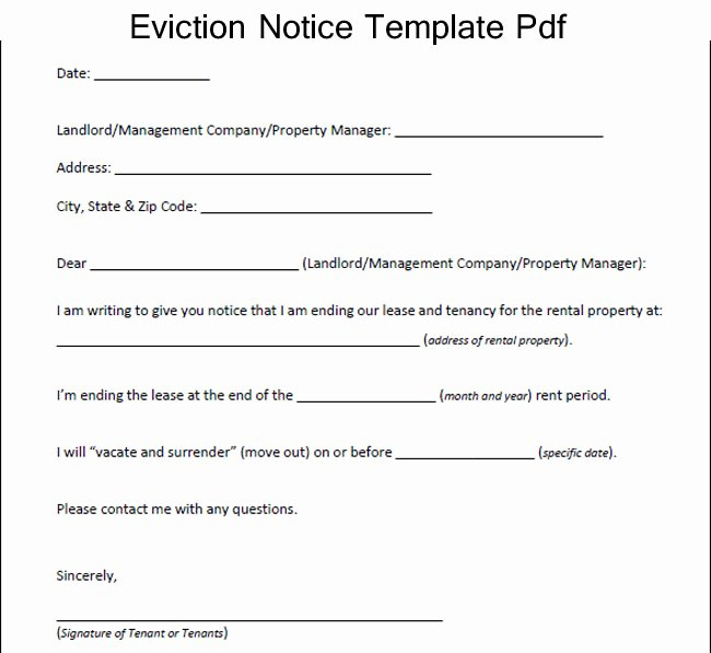 Texas Eviction Notice Template Elegant Eviction Notice form