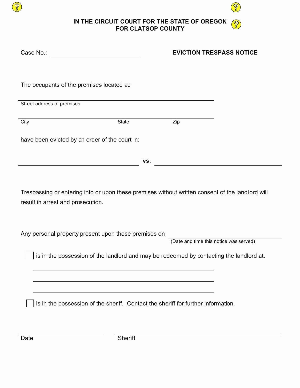 Texas Eviction Notice Template Fresh New Eviction Notice Template Fl