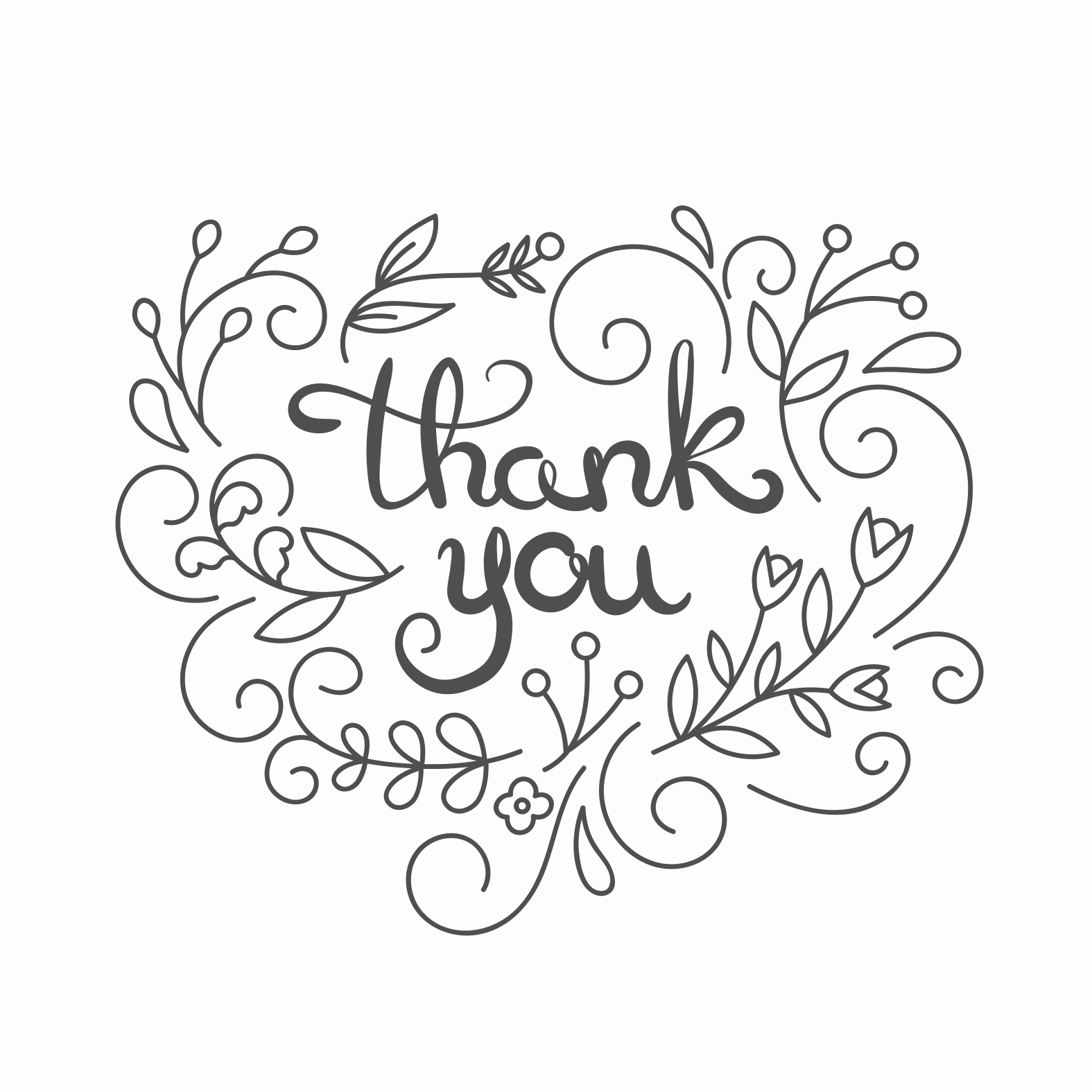 Thank You Postcard Template Awesome Simple Swirls Thank You Card Template Free