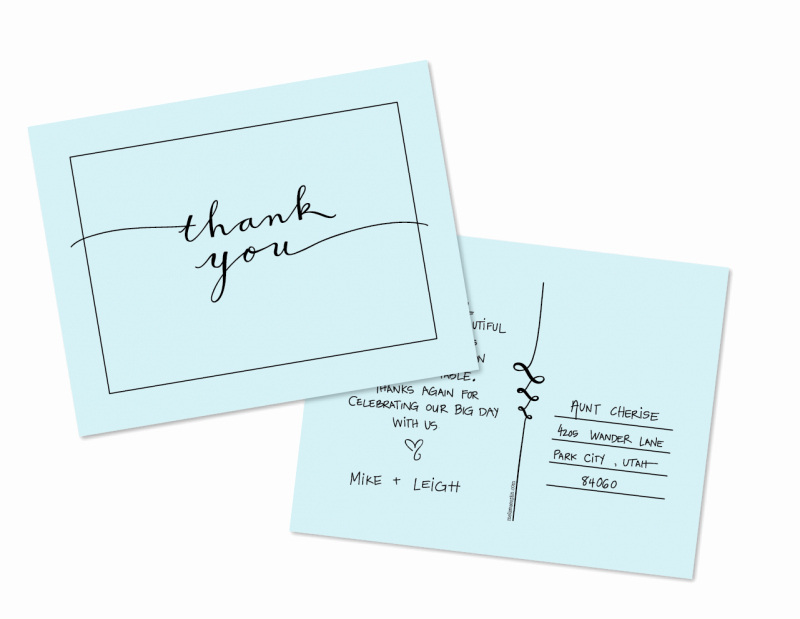 Thank You Postcard Template Lovely A Free Thank You Postcard Template From Melissa Esplin