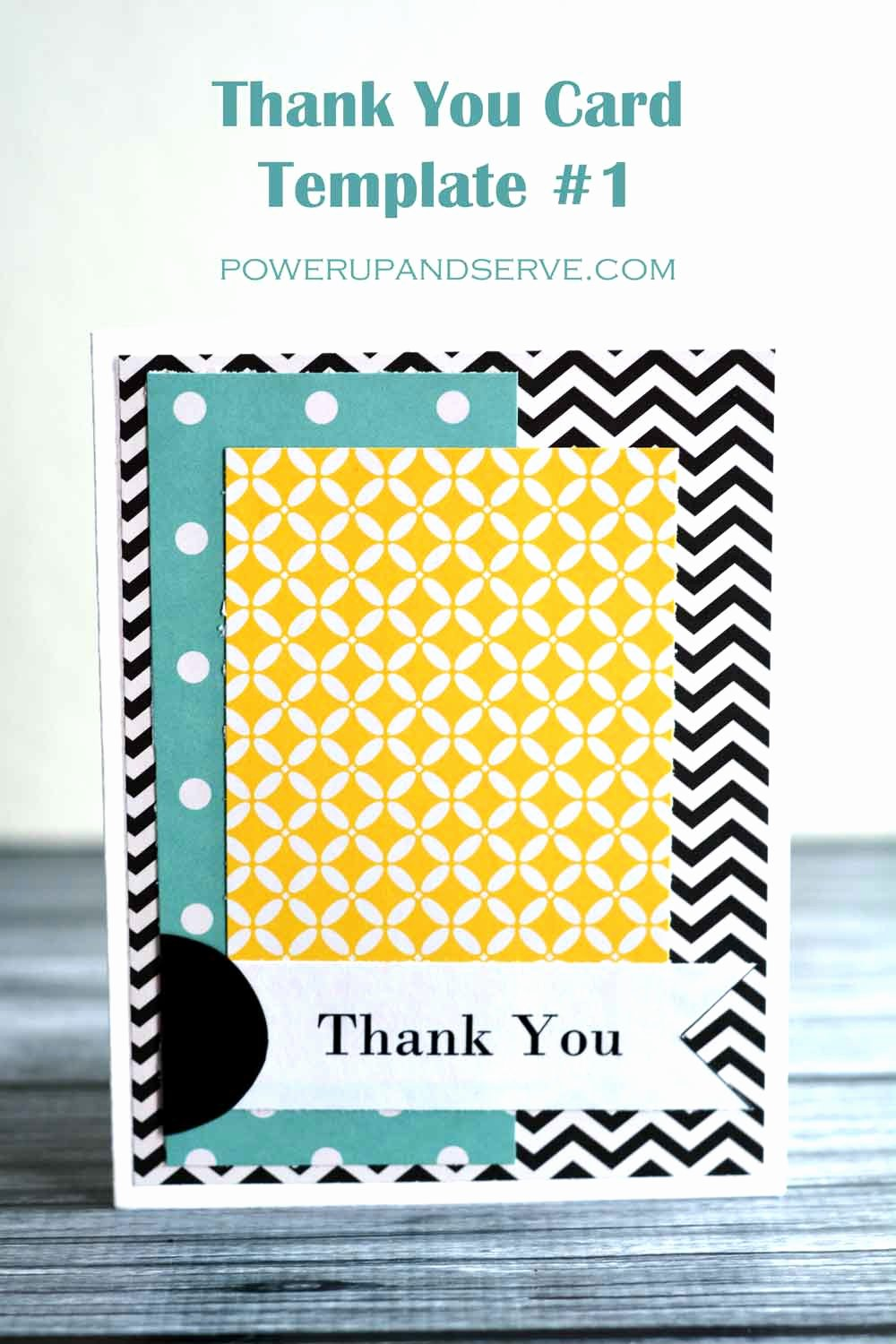 Thank You Postcard Template Lovely Thank You Card Template 1 Power Up and Serve