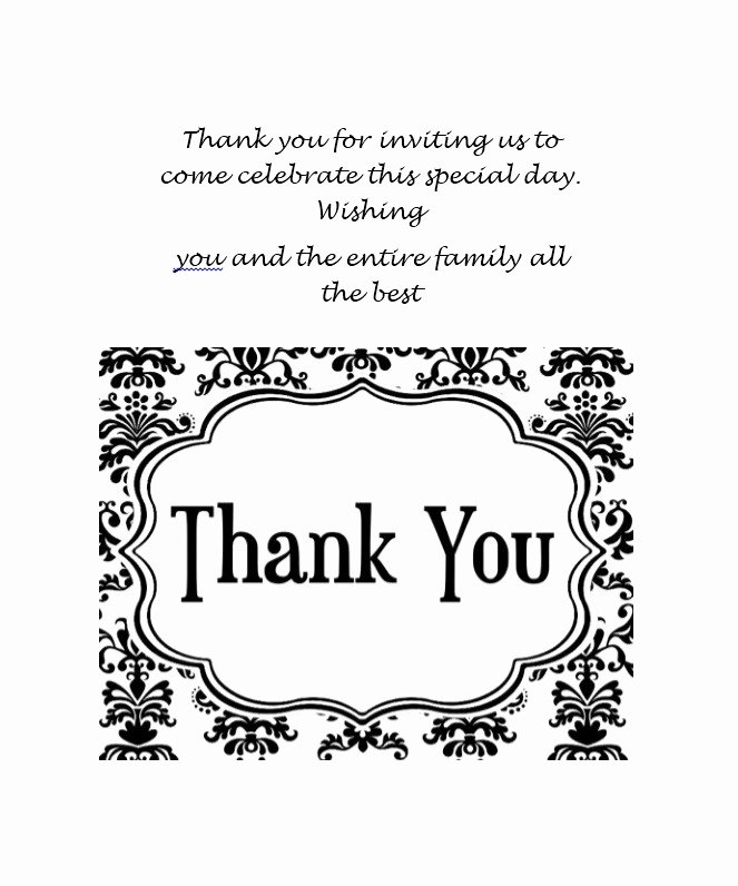 Thank You Postcard Template Luxury 30 Free Printable Thank You Card Templates Wedding