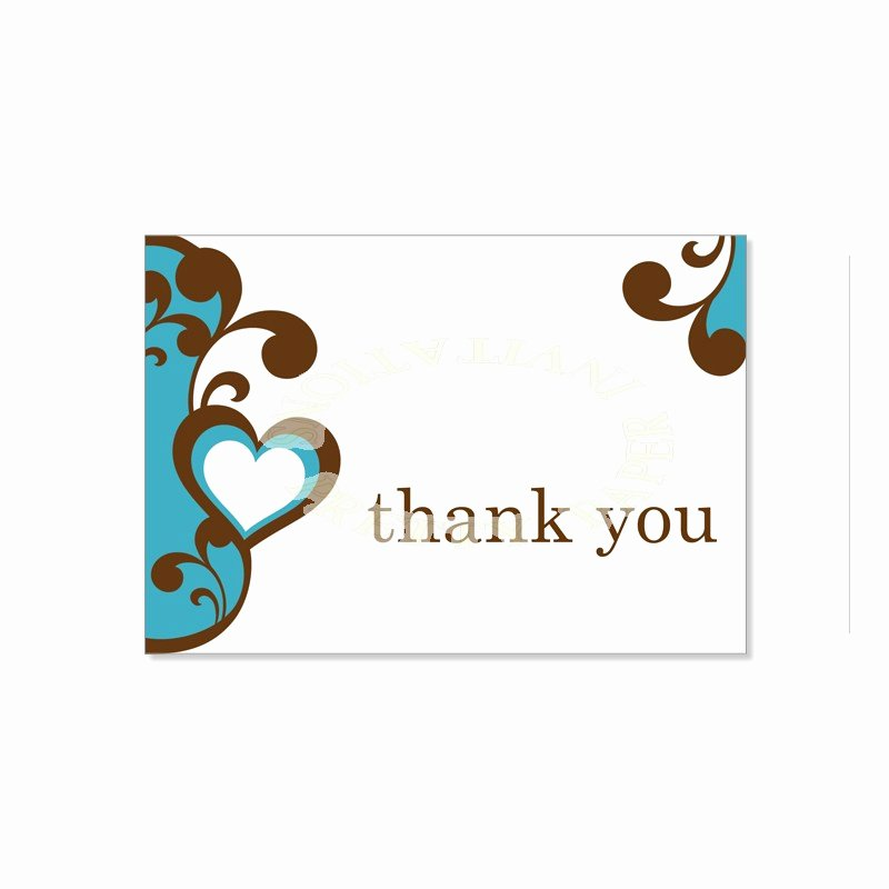 Thank You Postcard Template Luxury Thank You Card Template