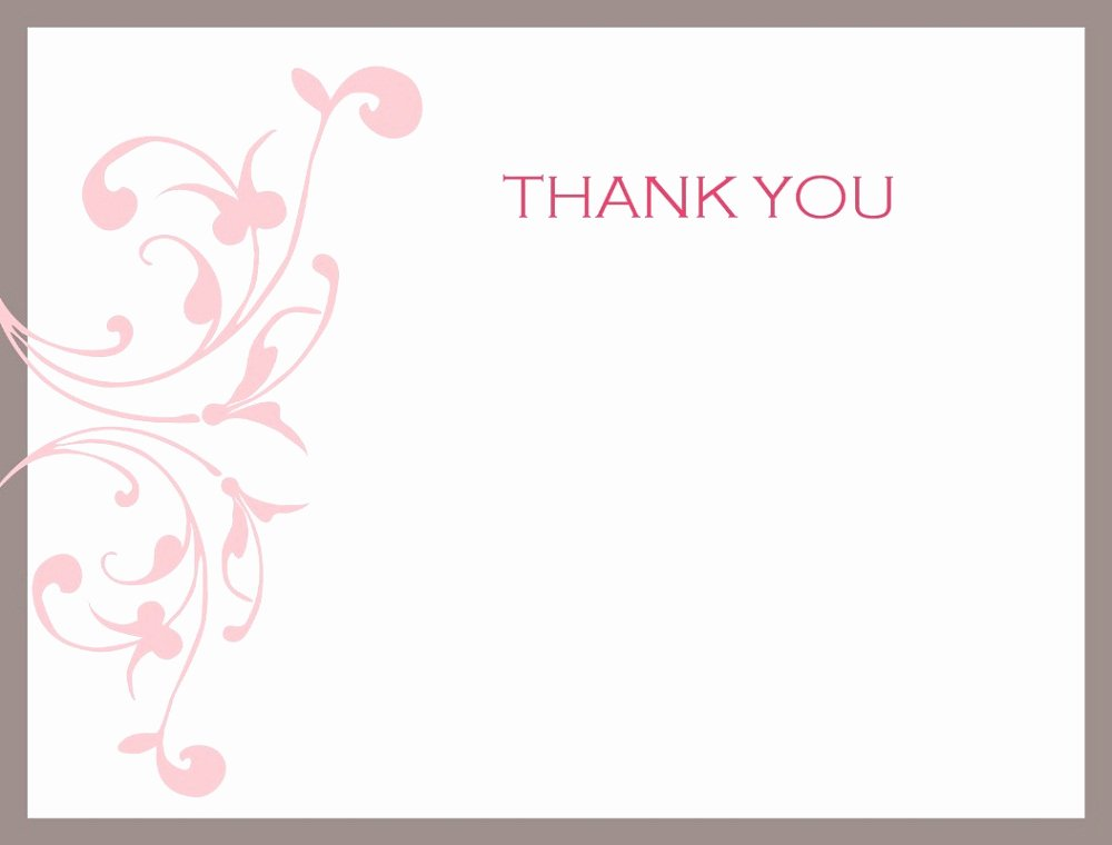 Thank You Postcard Template Unique Thank You Note Printable