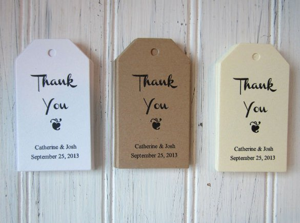 Thank You Tag Template Awesome 26 Favor Tag Templates – Free Sample Example format
