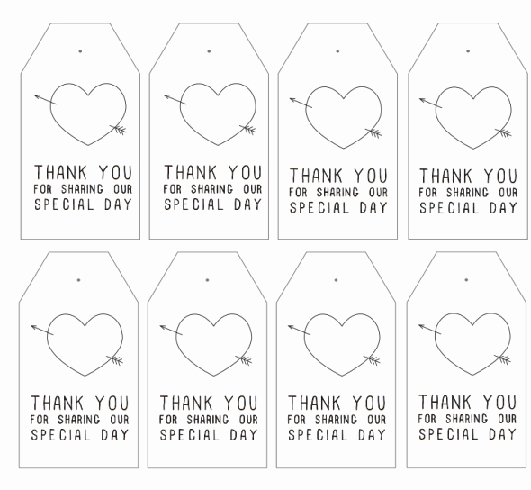 Thank You Tag Template Beautiful Free Printable Thank You Tags for Favors Printable 360