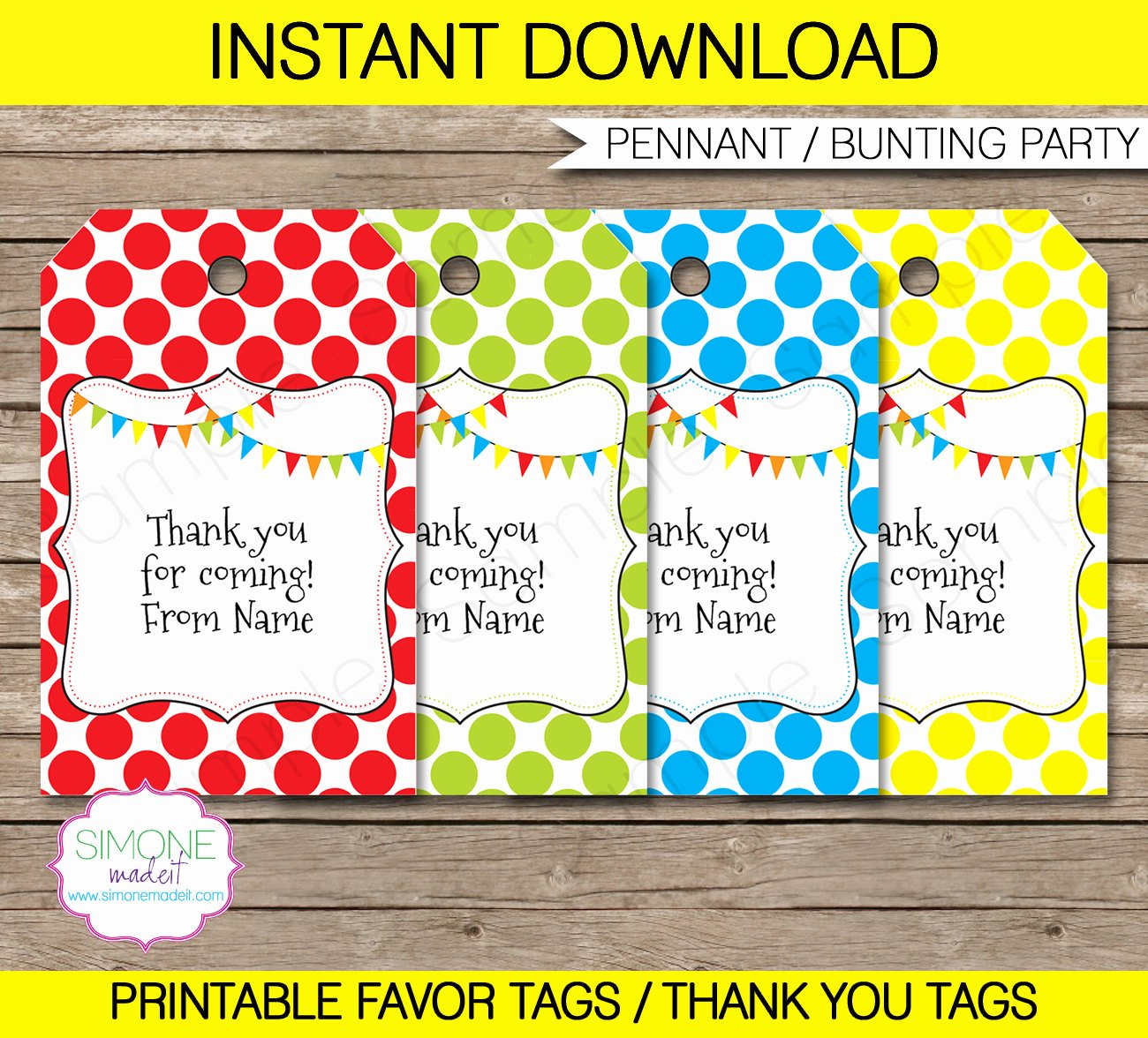 Thank You Tag Template Elegant Editable Favor Tags Thank You Tags Birthday Party Favors