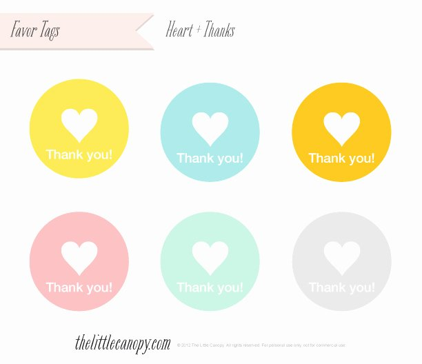 Thank You Tag Template Elegant the Little Canopy – Artsy Weddings In Weddings