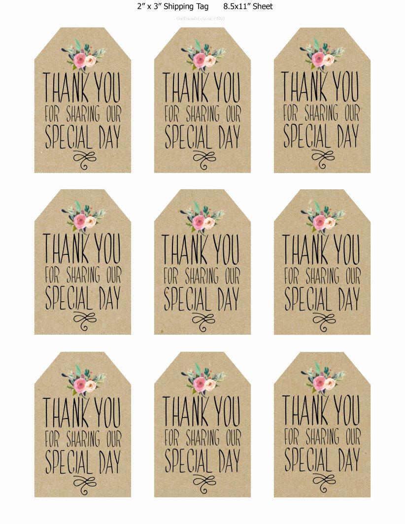 Thank You Tag Template Fresh Printable Thank You Tags Printable 360 Degree