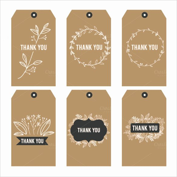 Thank You Tag Template Luxury 26 Favor Tag Templates Psd Ai