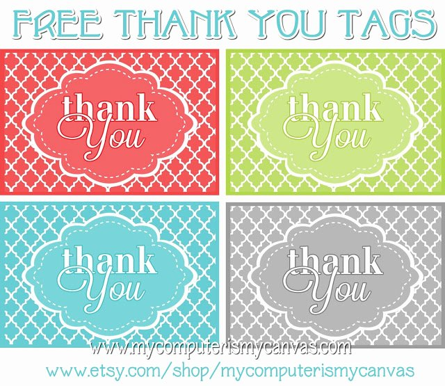 Thank You Tag Template New My Puter is My Canvas Freebie Printable Thank You Tags