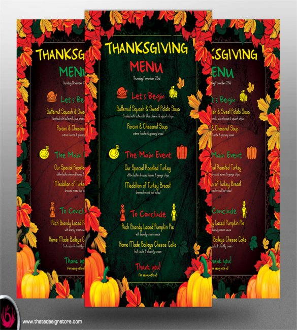 Thanksgiving Dinner Menu Template Awesome Menu Templates – 32 Free Psd Eps Ai Indesign Word