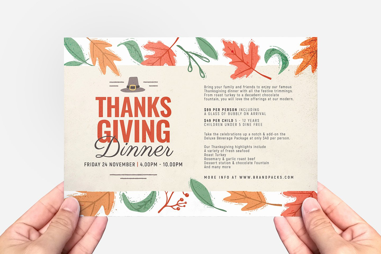 Thanksgiving Dinner Menu Template Beautiful Thanksgiving Menu Flyer Template Psd Ai & Vector
