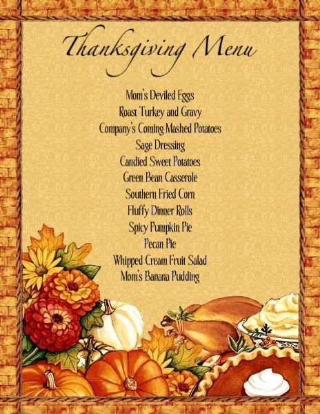Thanksgiving Dinner Menu Template Elegant Thanksgiving Dinner Menu Template