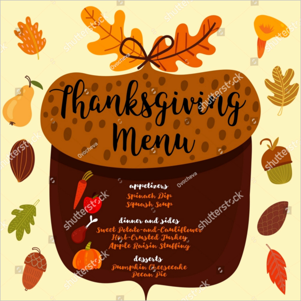 Thanksgiving Dinner Menu Template Lovely 36 Thanksgiving Menu Templates Free Sample Designs