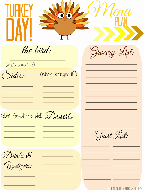 Thanksgiving Dinner Menu Template Lovely 4mykiddos 5 Free Thanksgiving Meal Planner Printables