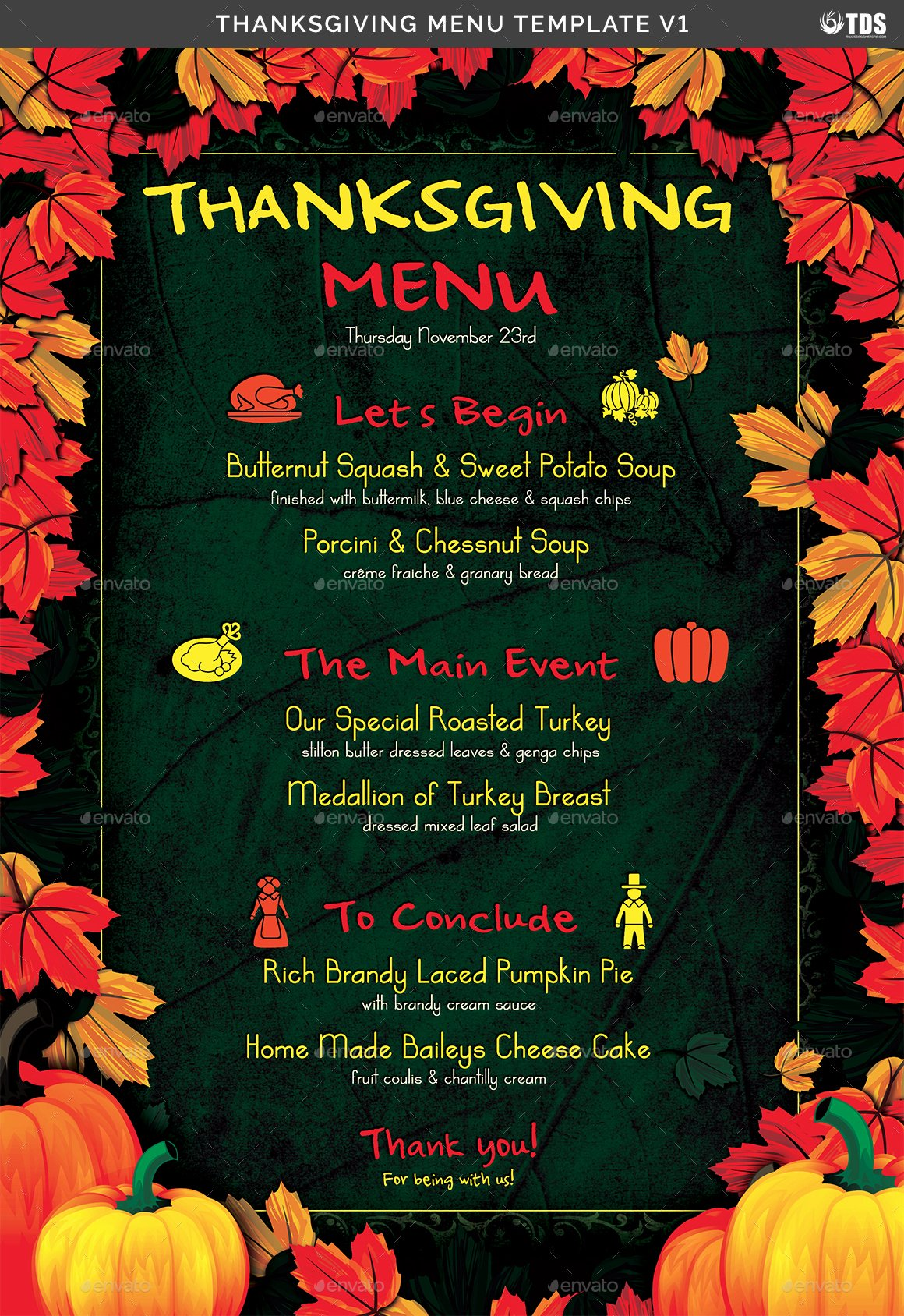 Thanksgiving Dinner Menu Template Lovely Thanksgiving Menu Template V1 by Lou606