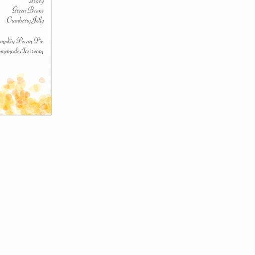 Thanksgiving Dinner Menu Template Luxury Thanksgiving Dinner Menu Template Customized Rack Card