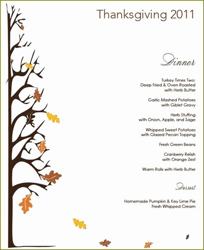Thanksgiving Dinner Menu Template Luxury Thanksgiving Menu Giveaway
