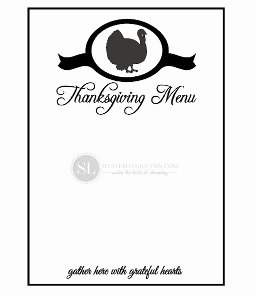 Thanksgiving Dinner Menu Template New 7 Best Of Printable Blank Thanksgiving Menu