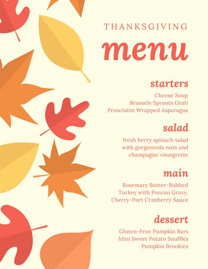 Thanksgiving Dinner Menu Template New Customize 40 Thanksgiving Menu Templates Online Canva