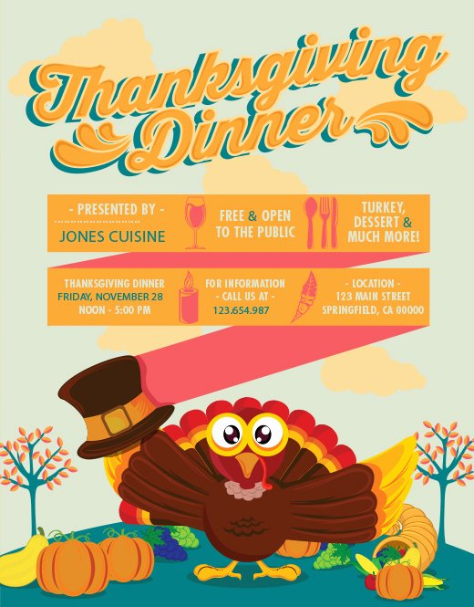 Thanksgiving Flyer Template Free Beautiful A Template Cornucopia Free Illustrator & Shop