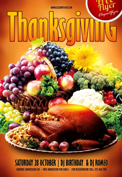 Thanksgiving Flyer Template Free Best Of Download Free Thanksgiving Party Psd Flyer Template