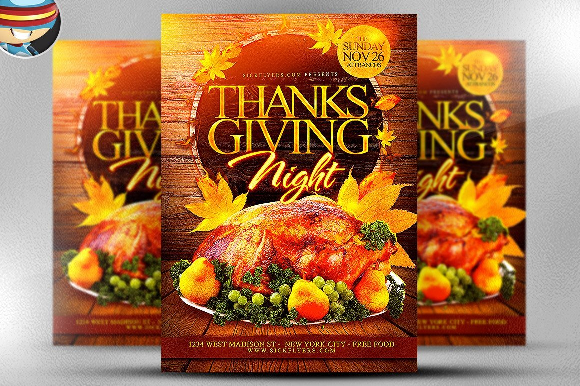 Thanksgiving Flyer Template Free Best Of Thanksgiving Night Flyer Template Flyer Templates