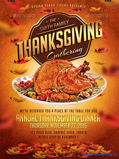 Thanksgiving Flyer Template Free Elegant Thanksgiving Dinner Flyer Templates for Free – Happy