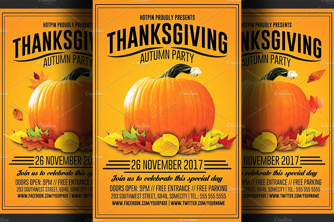 Thanksgiving Flyer Template Free Elegant Thanksgiving Flyer Template Flyer Templates Creative