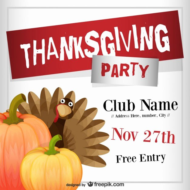 Thanksgiving Flyer Template Free Fresh Thanksgiving Party Flyer Template Vector
