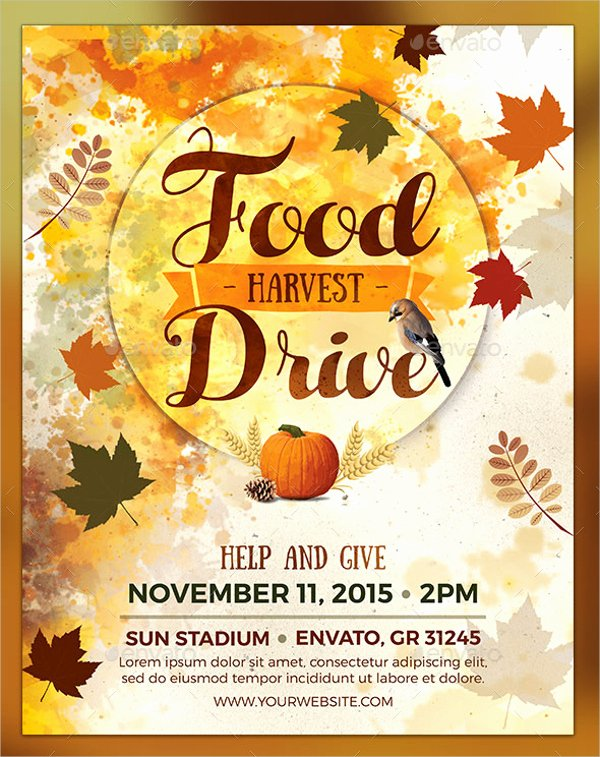 Thanksgiving Flyer Template Free Inspirational Thanksgiving Food Drive Flyer Templates for Free – Happy